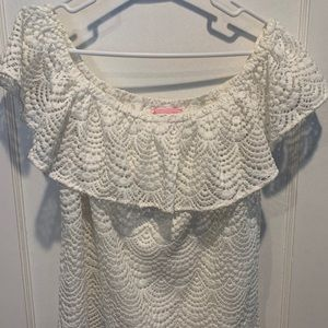 Lilly Pulitzer Tops - Lilly Pulitzer Lace Off the Shoulder top